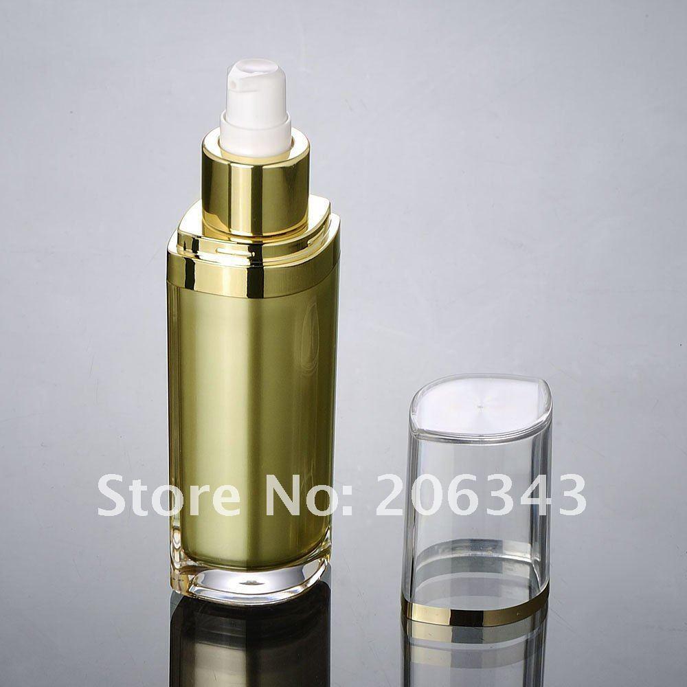 120ML gold acrylic eye-shape press pump lotion bottle