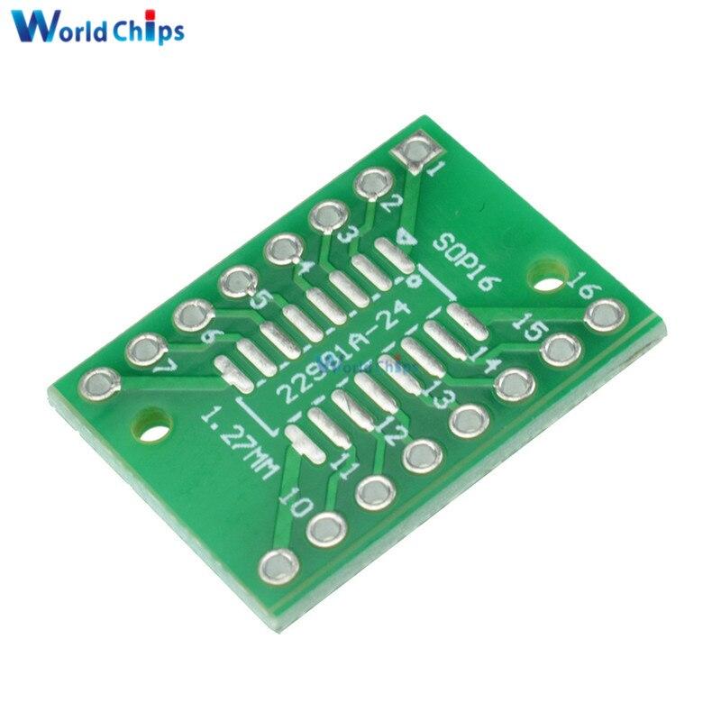 10 шт. SOP16 SSOP16 TSSOP16 DIP DIP16 0,65/1,27 мм IC адаптер PCB плата
