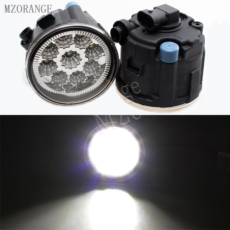 MIZIAUTO 9W 6000K beyaz led sis farları NISSAN TIIDA için SC11X küp Quest 2006-2012 sis lambası CCC E2 12V DRL lambası 2 adet