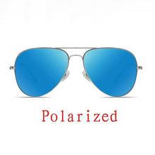Real Polarized Men Pilot Aviation Sunglasses Flash Mirrored and Gradient Lens Women Brand Designer H