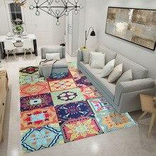 Alfombras de estilo nórdico americano para sala de estar, manteles para mesa de té, alfombras grandes para el hogar, alfombras para dormitorio, decoración de estudio Ru