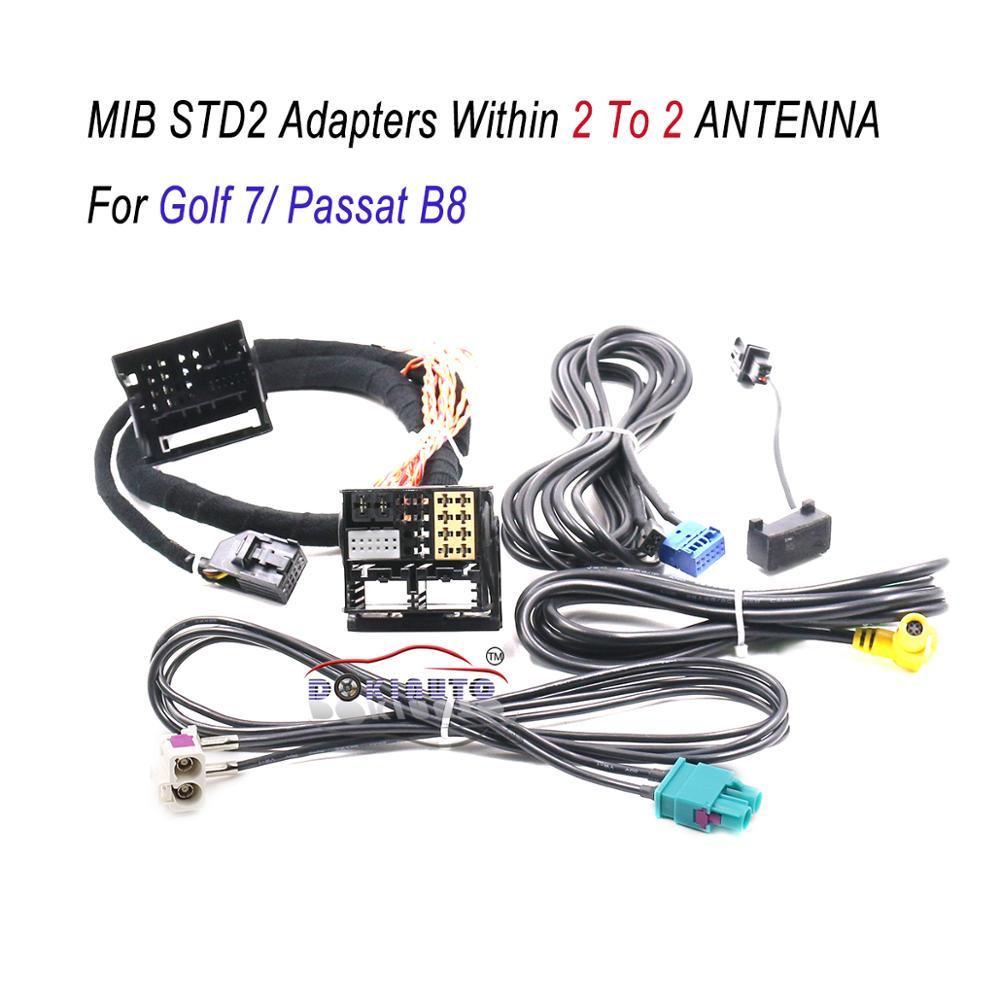 MIB STD2 ZR NAV Откройте для себя Pro радио адаптер кабель жгут проводов с 2 до 2 кабель для Golf 7 MK7 Passat B8 Tiguan MQB автомобиль