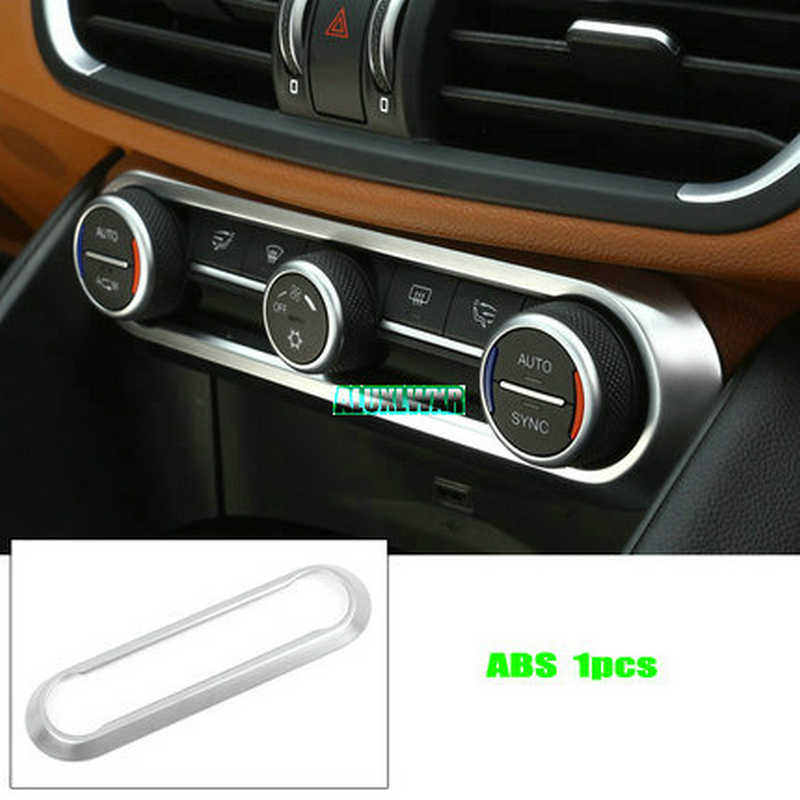 Trim Car Accessories For Alfa Romeo Giulia Stelvio 2017 2018 Car Styling Abs Chrome Center Air Conditioning Adjustment Frame Abs Chrome Chrome Accessoriestrim Chrome Aliexpress