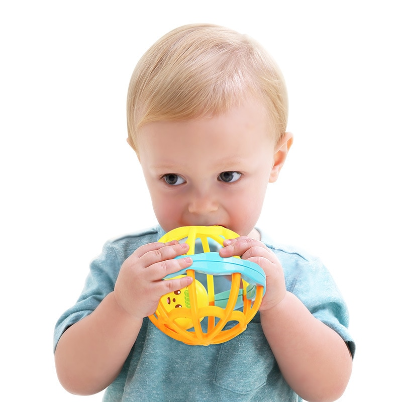 Baby Funny Soft Colorful Rattles Ball Toys Hand Bell Develop Toys Touch Bite Caught Hand Ball For Kids Infant Grasping Toy Gift