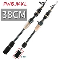 high 99 carbon 1 8m 2 1m portable telescopic fishing pole spinning fish hand fishing saltwater tackle sea rod fishing rod
