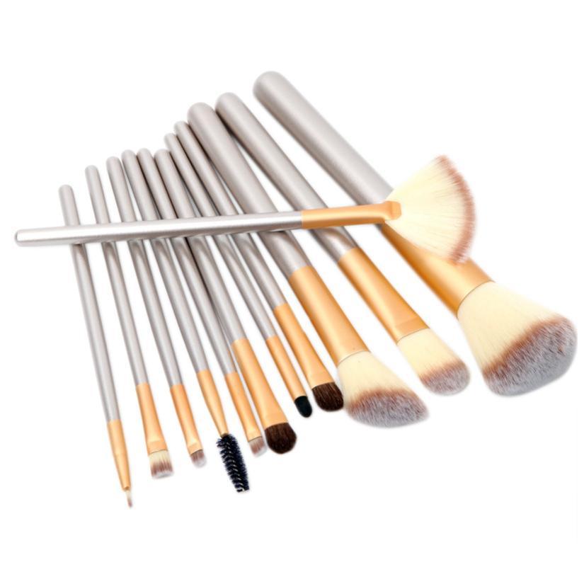 12 pcs Eye Makeup Brushes set Escova De Fibra Fundação Sombra Cosméticos Ferramenta Top Quality New 2JU29