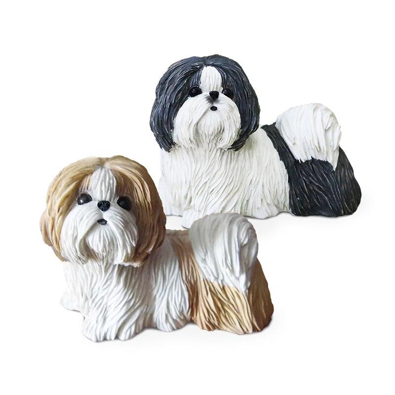 Mode Hund Simulation Tier Modell Auto Handwerk Hund Einrichtungs Hause Zubehör Ornamente Wandmalereien Dekoration Handwerk Einrichtungs