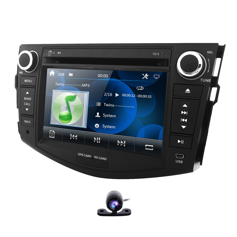 Radio multimedia Car DVD player for Toyota RAV 4 2006-2012 gps navigation Monitor steering wheel dab+ BT Free Camera 8G map card
