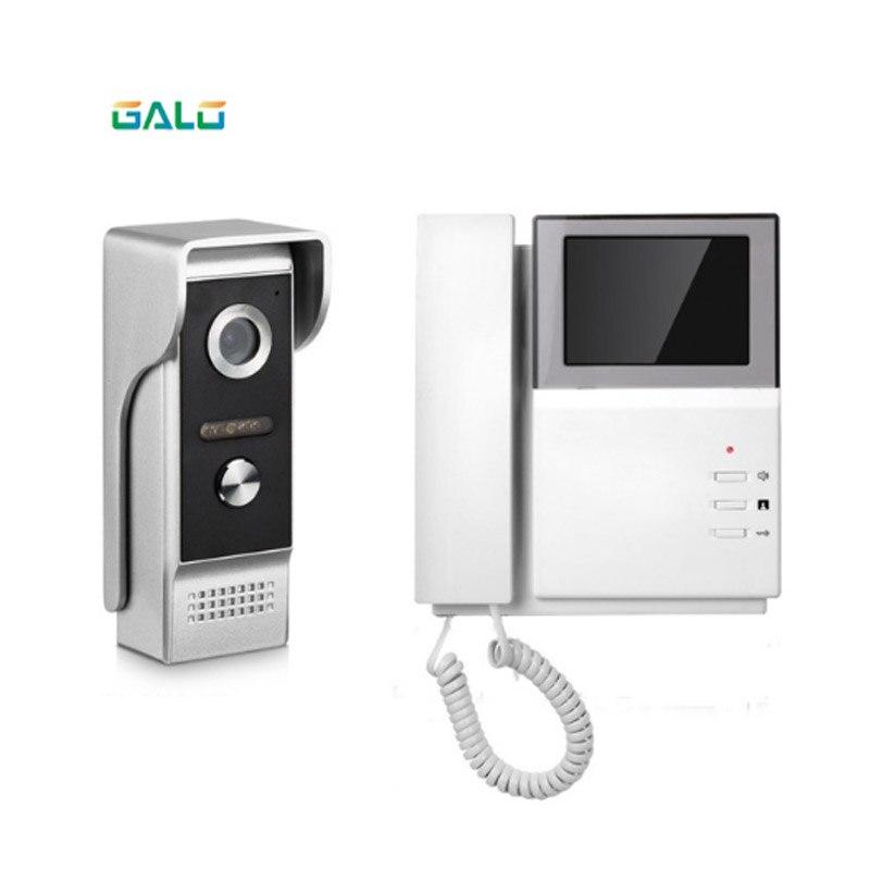 Intercomunicador de vídeo para puerta de vídeo lcd a color de 4,3 pulgadas