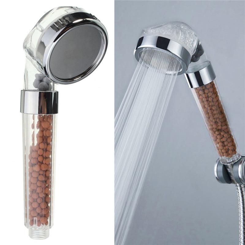 Cabezal de ducha para ahorrar agua de mano boquilla de ducha de baño rociador filtro transparente ducha de mano cabezal de ducha