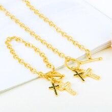 Bijoux éthiopiens africains couleur or erythrée Habesha soudan ensemble nuptiale mariage boucle doreille croix collier boucle doreille arabe pour les femmes cadeau
