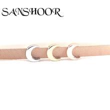Biżuteria sanshoor Moon Slide Charms fit 10mm siatka ze stali nierdzewnej akcesoria do bransoletki making