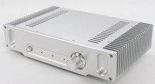 DIY AMP case 335*75*207mm WA55 Silver Full aluminum amplifier chassis / Class A amplifier case / AMP Enclosure / case / DIY box