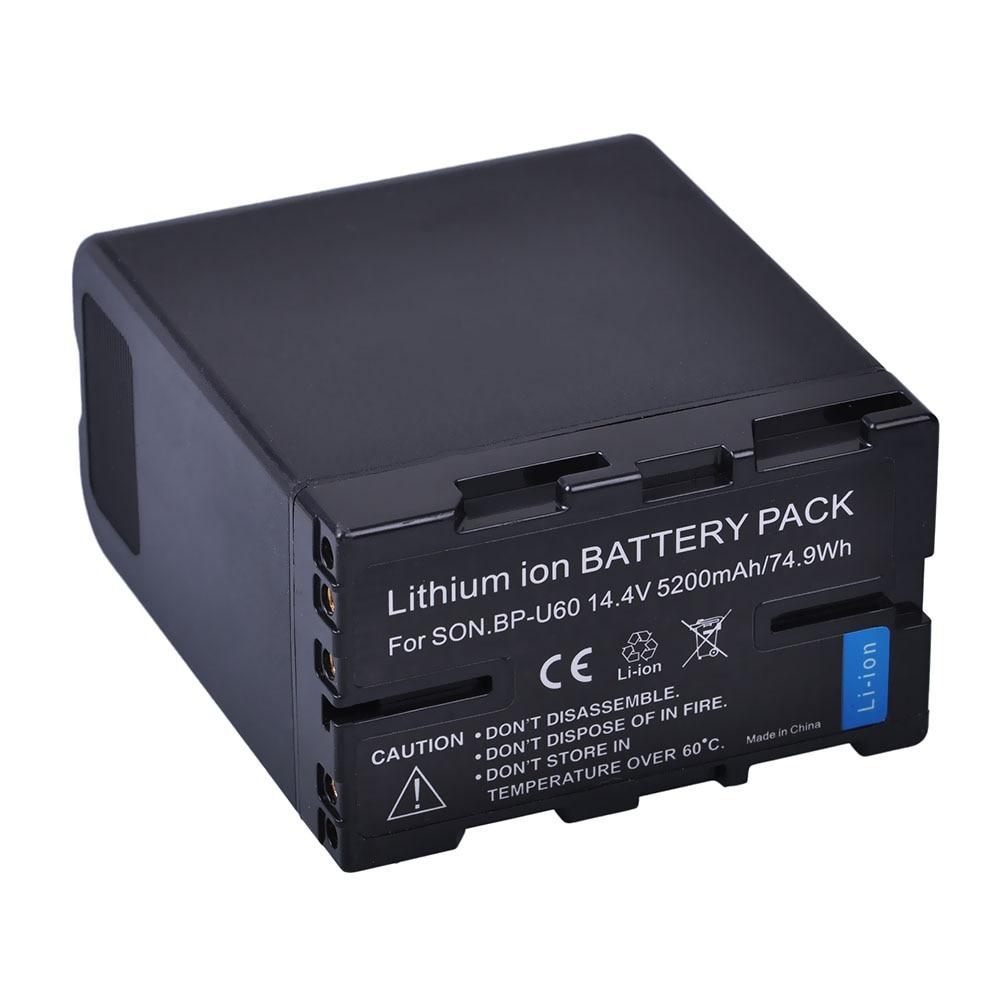 1pc 5200mah BP-U60 BP U60 BPU60 batería recargable de Li-Ion para Sony XDCAM EX PMW100 PMW150 PMW160 PMW200