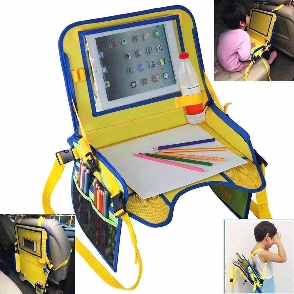 Bandeja de assento do carro à prova dwaterproof água crianças carrinho de bebê acessórios da criança assento de carro portátil comida lanche jogo bandeja viagem mesa