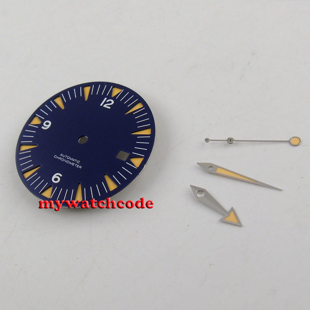 قرص ساعة معقم ، أزرق ، 31 مللي متر ، لـ eta 2824 2836