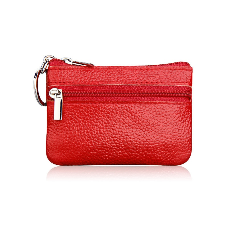 Genuine Leather Coin Purses Men Women's Cute Small Change Money Bags Children's Pocket Wallets Key Holder Case Mini Zipper Pouch