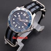 41mm Corgeut Automatic Mens Watch Luminous Rotating Bezel Sapphire Glass Date Nylon strap mechanical men's watch
