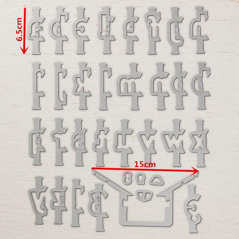 6,5 cm altura capas alfabeto ABC grande de Metal de corte muere...
