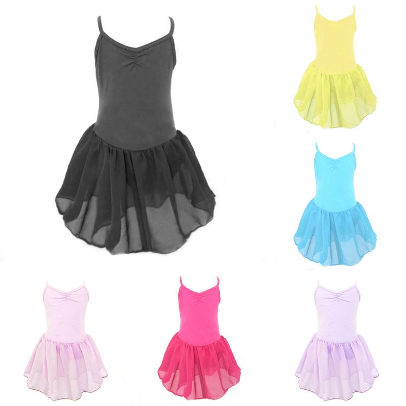 New 6475 Girl Kids Toddler Ballet Dance Tutu Dress Gymnastics Leotard Dancewear Outfit Dance Wear