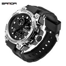 SANDA G Stil Männer Digitale Uhr Shock Military Sport Uhren Wasserdichte Elektronische Armbanduhr Herren Uhr Relogio Masculino 739