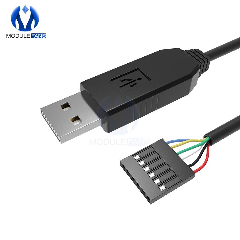 6Pin FTDI FT232RL FT232 módulo para Arduino USB a TTL UART Cable Serial adaptador RS232 Cable de descarga indicador LED de módulo