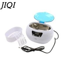 JIQI Digital Ultraschall Reiniger Korb Schmuck Uhren Dental maniküre münzen Reinigung Maschine Mini Bad limpiador 35W 110V/220V
