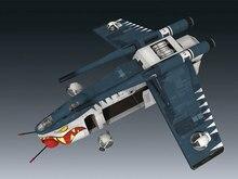Star Wars Shark kanonenboot kämpfer hyperfein version 3D papier modell diy