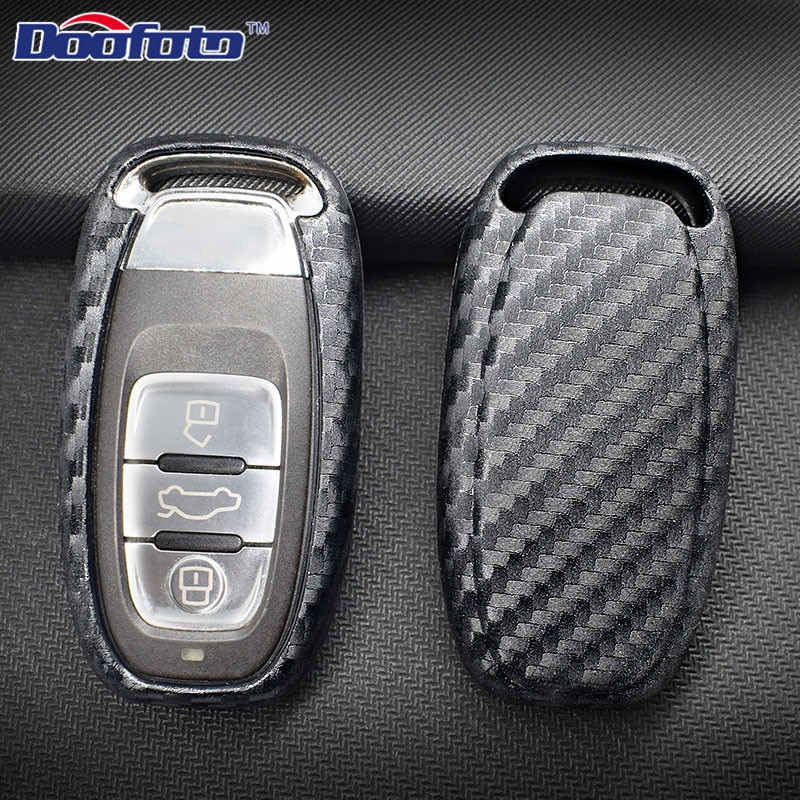 Cubierta de llave de fibra de carbono para Audi, A4, A4L, A5,...