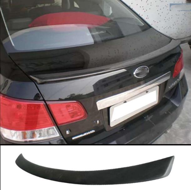 Car-Styling For subaru Legacy Spoiler  small spoilerFRP material rear trunk boot Wing Spoiler Primer and  paint color
