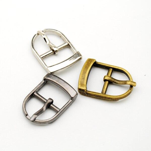 25 pçs/lote Fivela gancho fivela de Metal clipe de metal pequeno 15mm fivela de sapato com pinos e alta polido níquel níquel preto fivela BK-004