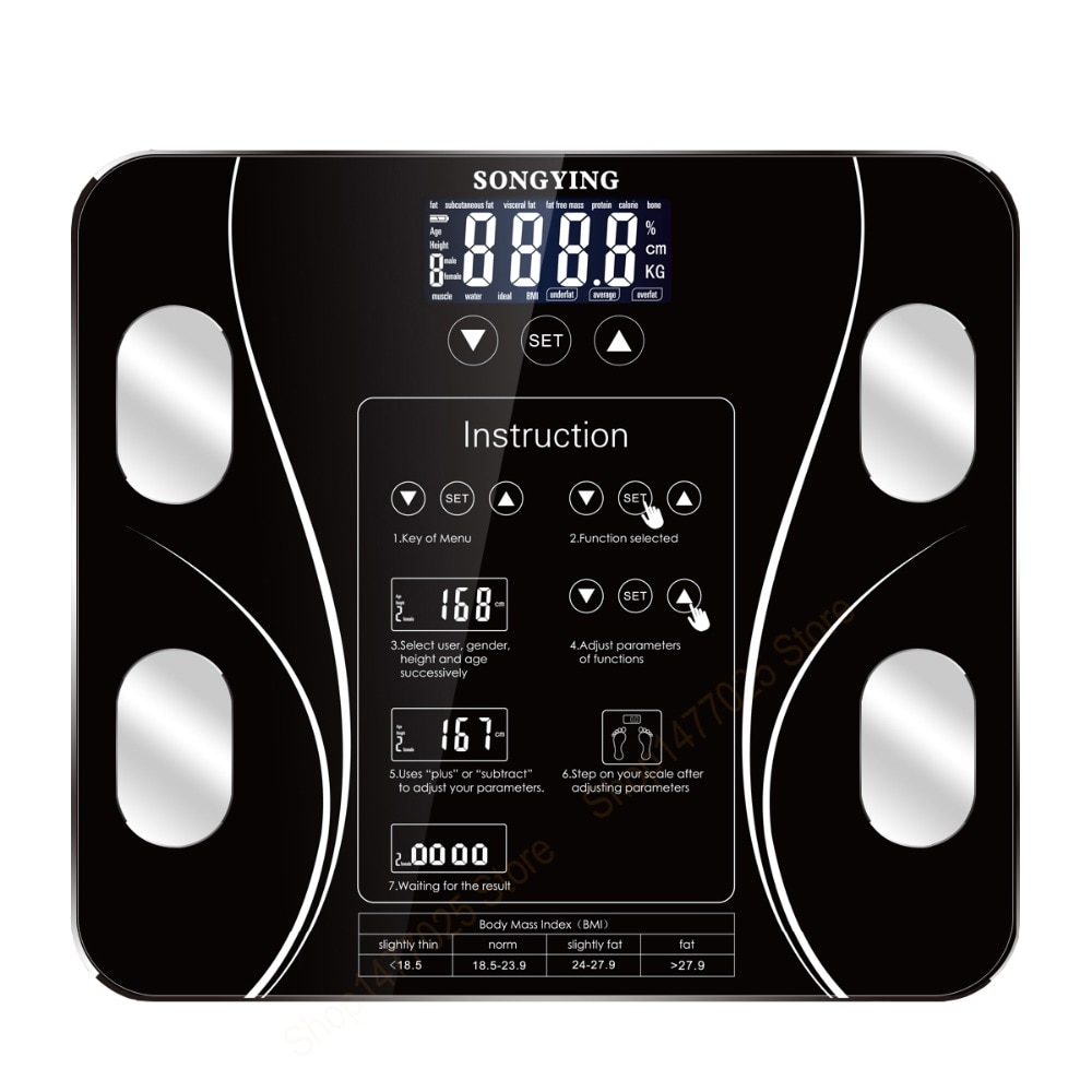 Heißer Digital Badezimmer Gewicht Waagen Boden Smart Körper Fett Mi Skala Digitale b mi Menschlichen Waage körper zusammensetzung 13 körper Daten
