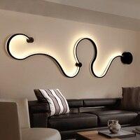 Modern creative wall lamp black / white led indoor living room bedroom bedside lamp Commercial premises decoration ceiling lamp
