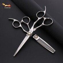 KUMIHO japońskie nożyczki do włosów profesjonalne nożyczki fryzjerskie z dużymi śrubami łożyskowymi ścinanie włosów i przerzedzenie nożyczek hot