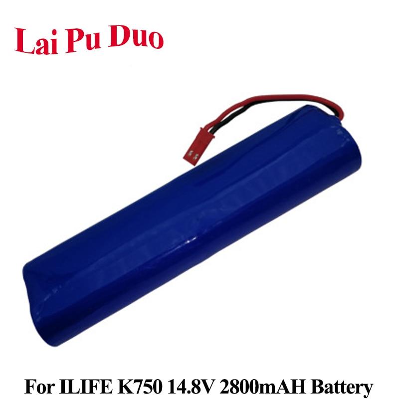 Bateria de substituição 14.8 V 2800 mAh Li-Ion Para ecovacs ILIFE V3S PRO K750 Varrendo Robô Bateria Recarregável