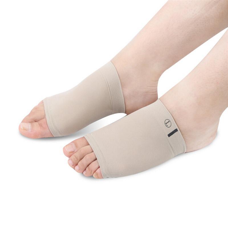 Confortável sílica gel arco suporta almofadas pés planos palmilhas para plantar fasciite manga meias pés palmilhas ortopédicas
