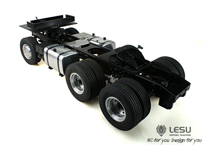 TOP 1/14 chasis de tractores Scania 6-4 chasis de metal modelo Tamiya envío gratis
