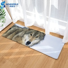 3D лев тигр Волк с животным принтом кухня прикроватная зона коврики фланелевый туалет коврик для ванной напольные коврики для лестницы и пола 40x120cm