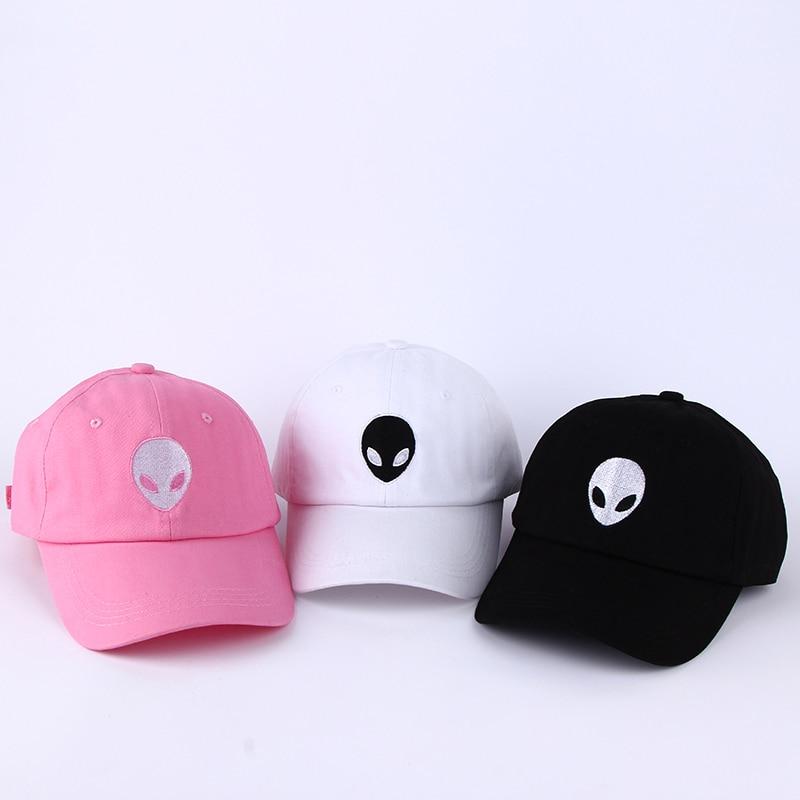 Gran oferta, platillo de aliens Outstar Space E.T, fanáticos de los ovnis, gorra de béisbol de tela negra, sombrero para hombres y mujeres