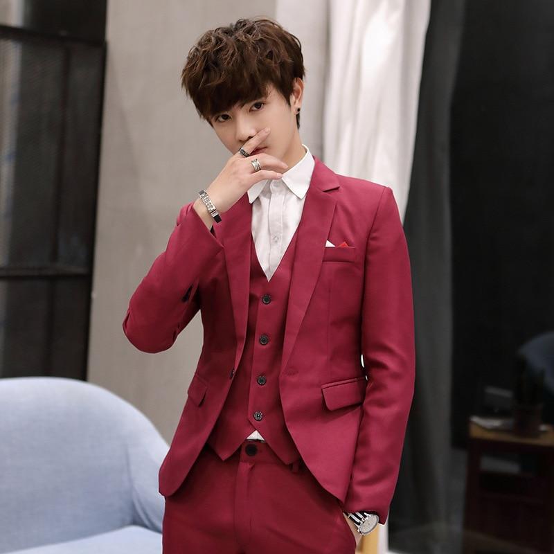Amazon wholesale supply blazers version slim casual suit jackets single Dropshipping suit men wedding top clothes