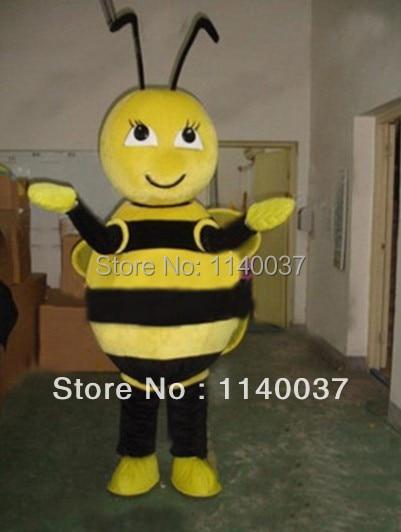 Mascota abeja amarilla abeja Bumblebee mascota disfraz adulto tamaño vestido de fantasía personaje de dibujos animados traje de fiesta