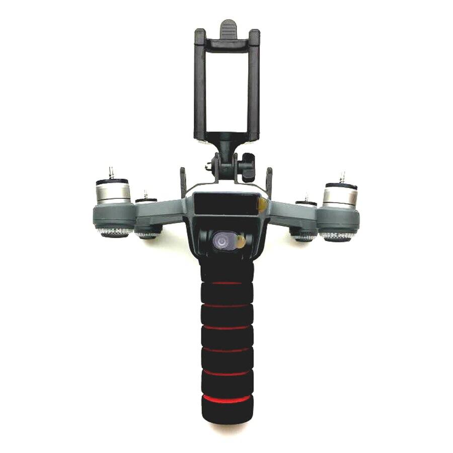 Accesorios de chispa PTZ de mano Kit de formación portátil teléfono móvil Gimbal estabilizador para DJI Spark Drone palo selfie monopie