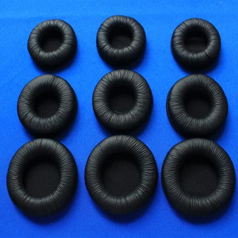 Linhuipad 100Pcs(50pairs) 60mm Headset Leather Ear Cushions Earpads suit for ATH ES55  Philips SHM7110 H6000 H8000 Sony MDR-PQ3 enlarge
