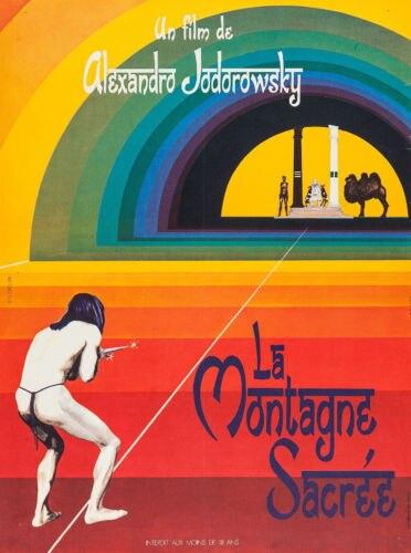 THE HOLY MOUNTAIN Movie Poster RARE European Version Alejandro Jodorowsky