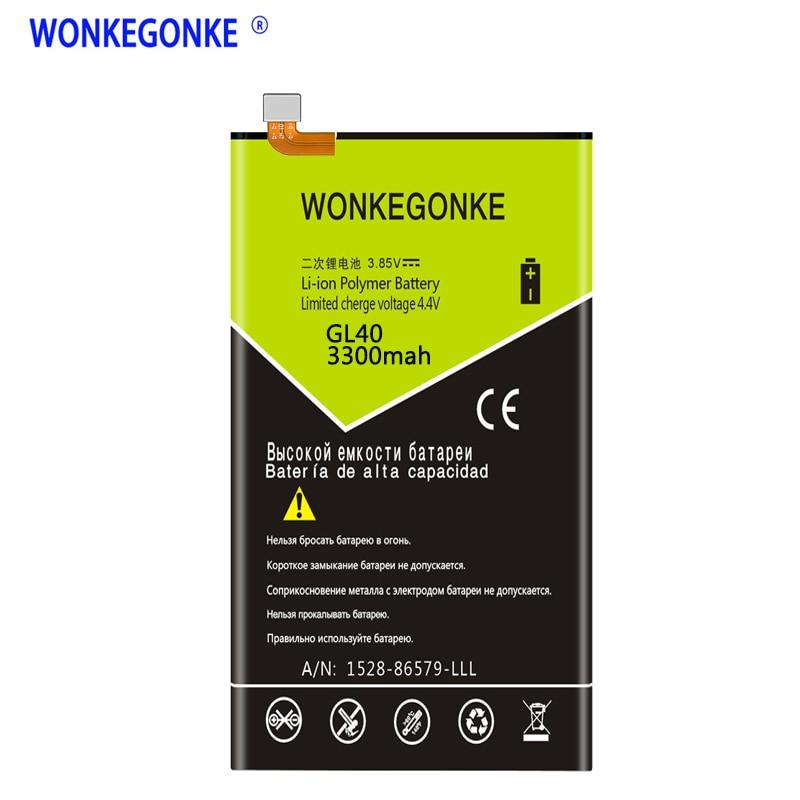 WONKEGONKE 3300mah batería de la batería para Motorola Moto Z jugar XT1635-01......