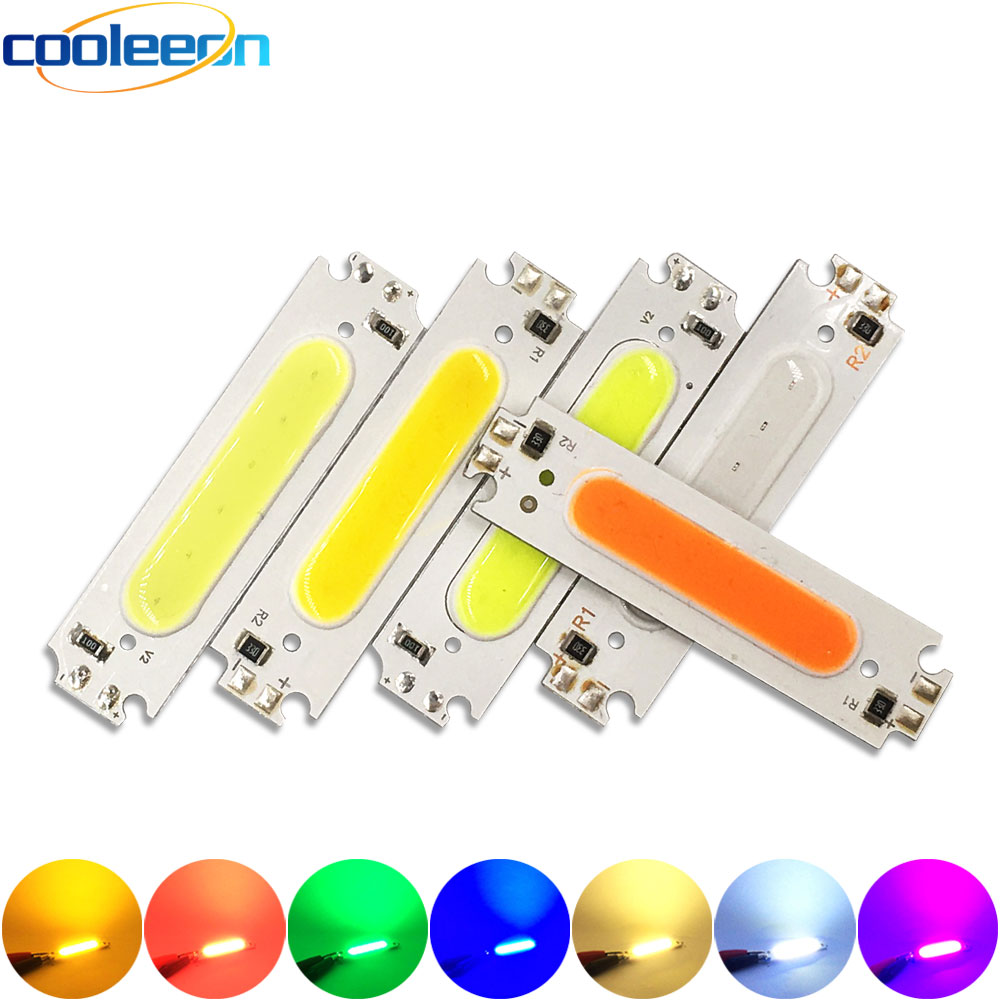 60x8mm 2v 3v led bulb cob strip 3 7v chip on board 60mm warm cold white blue red color 1w 3w led lighting for cob work lamps diy 60x15MM 2W COB Chip LED Light Lamp 12V White Yellow Blue Red Green Pink Purple Color LED Bulb DIY Lighting 60mm COB Board