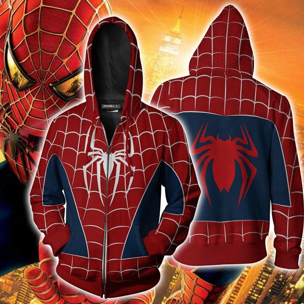 PS4 juego Scarlet Spider spider-man 3 Cosplay traje de Spiderman sudaderas con capucha 3D impresión cremallera sudaderas con capucha de lana de Deportes de