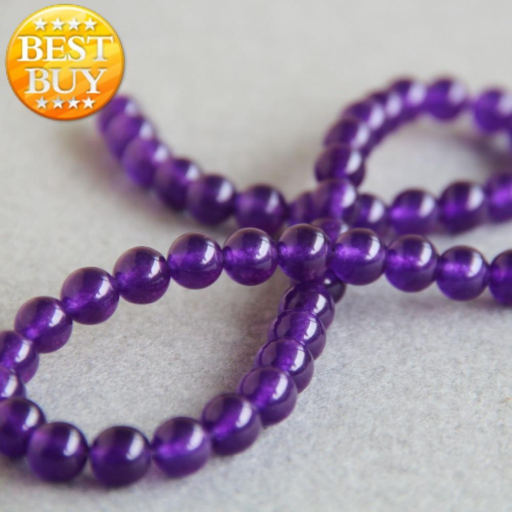 (Min Order1) 8mm Natural de moda alexandrita púrpura perlas de piedra ronda abalorios DIY Beads 15 pulgadas joyería al por mayor de diseño