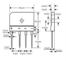 4 pcs/lot GBU805 GBU806 GBU807 GBU808 ZIP-4