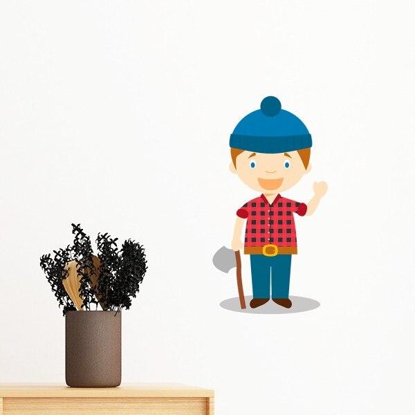 Chapéu azul Canadá Camisa Dos Desenhos Animados Removível Wall Sticker Art Decalques DIY Mural Papel De Parede para Quarto Decal